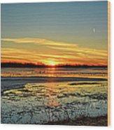 Big Marsh Sunset 2 Wood Print