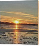 Big Marsh Sunset 4 Wood Print