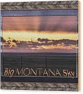 Big Montana Sky Wood Print