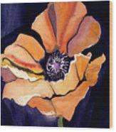 Big Orange Flower Wood Print