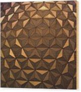 Big Orb At Night Wood Print