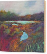 Big Pond In Fall Mc Cormick Woods Wood Print