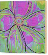 Big Pop Floral IIi Wood Print by Ricki Mountain