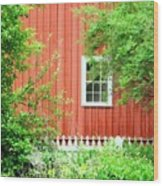 Big Red Barn Wood Print