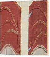 Big Red Doors Wood Print