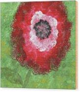 Big Red Flower Wood Print