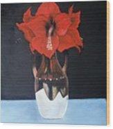 Big Red Flowers Wood Print