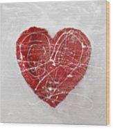 Big Red Heart Wood Print