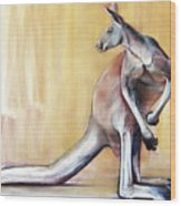 Big Red  Kangaroo Wood Print