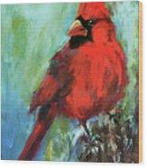 Big Red Wood Print