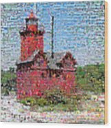 Big Red Photomosaic Wood Print