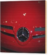 Big Red Smile - Mercedes-benz S L R Mclaren Wood Print