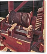 Big Red Winch Wood Print