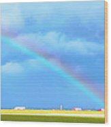 Big Rig Rainbow Wood Print