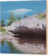 Big River Rock Wood Print