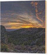Big Rock Panorama Wood Print