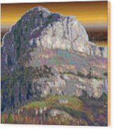 Big Rock Wood Print