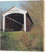 Big Rocky Fork Bridge Indiana Wood Print