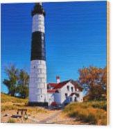 Big Sable Point Lighthouse Wood Print