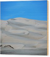 Big Sand Dunes In Ca Wood Print