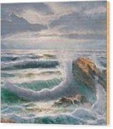 Big Seastorm - Italy Wood Print