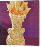 Big Shell Vase Wood Print by Arlin Jules