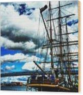 Big Ships Wood Print