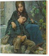 Big Sister 1890 Wood Print