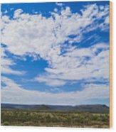 Big Sky In Pecos Valley Wood Print