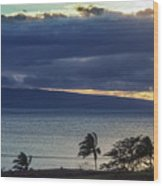 Over Molokai Wood Print