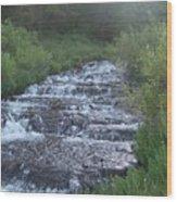 Big Springs Waterfall Wood Print