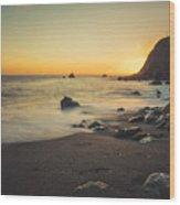 Big Sur Beach Wood Print by Lynn Andrews