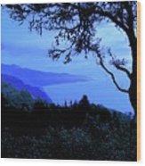 Big Sur Blue, California Wood Print