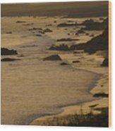 Big Sur Coastline Wood Print