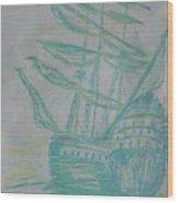 Big Tall Sail Wood Print