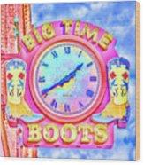 Big Time Boots - Nashville Hot Pink Wood Print