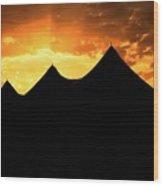 Big Top Sunset Wood Print