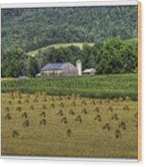 Big Valley Farm Wood Print