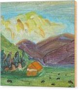 Big Valley Wood Print