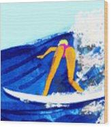 Big Wave Wood Print