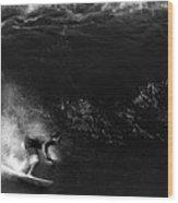 Big Wave Surfing Wood Print