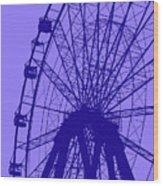 Big Wheel Blue Wood Print