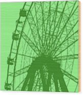 Big Wheel Green Wood Print