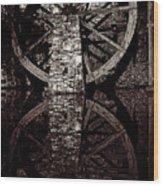 Big Wheel In Bw Wood Print