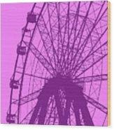 Big Wheel Purple Wood Print