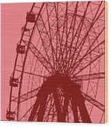 Big Wheel Red Wood Print