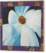 Big White Flower Wood Print by Grace Matthews