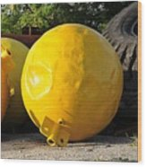 Big Yellow Balls Wood Print