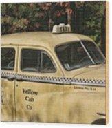 Big Yellow Taxi Wood Print