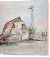 Bigelow's Barn Wood Print
